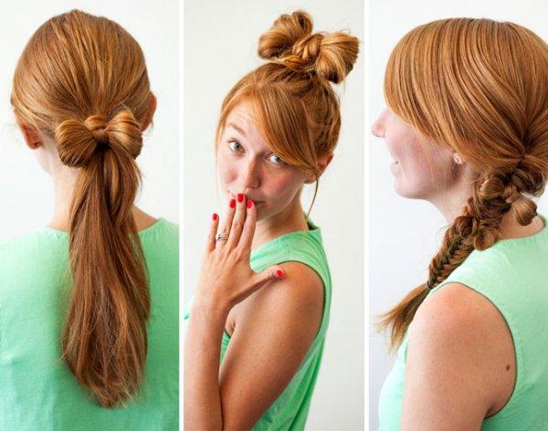 Причёска бант из волос своими руками