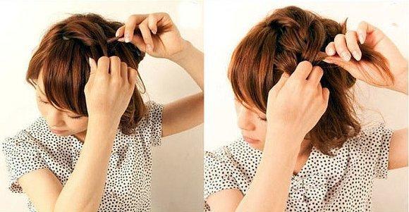 Повседневные прически на короткие волосы в домашних